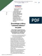 An - EnTREVISTA Clóvis Moura_ Sociólogo Critica _cinismo Étnico_ No País - Geral