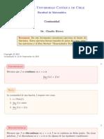 [Calculo I] Taller 01 Continuidad de una función