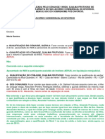 ACORDO CONSENSUAL DE DIVÓRCIO(1)