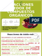 Reacciones Redox en Organica