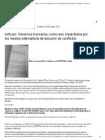 Artículo_ Derechos Humanos; Como Son Impactados Por Los Medios Alternativos de Solución de Conflictos – Sanaemex