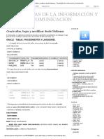Oracle Altas, Bajas y Modificar Desde Netbeans - Tecnologías de La Información y Comunicación