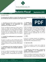 Boletin Fiscal Septiembre 2016