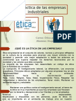 Ética de Las Empresas Industriales