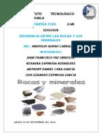Diferencia Roca Mineral
