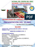 Presentación de Silabo