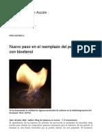 Nuevo Paso en El Reemplazo Del Petróleo Con Bioetanol – Blog de Química en Acción