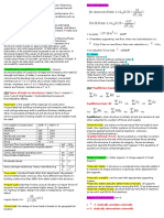 Structural Analysis Formula Sheet