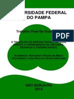 O TRABALHO DO SERVIÇO SOCIAL NO NUDE FRENTE À PERMANÊNCIA NA UNIPAMPA