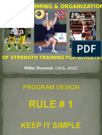 Mike Durand-wiaa Organization of Strength Training Programs
