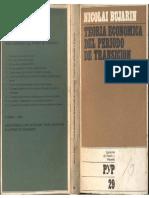 Bujarin, Nicolai - Teoría Económica Del Período de Transición, Cuad. de P. y P., 1972