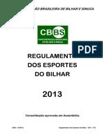 EDF Bilhar-Snooker RegulamentoEsportesdoBilhar2013
