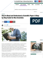 How to Read and Understand a Scientific Paper