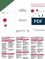 IISUE Congreso Inter. Interacciones. Las Universidades 28-30 Sep.2016 Tríptico