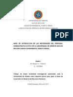 Tesis de Grado - Nivel de Satisfaccion Laboral Del Pers Adm de La Uepo (Paola Risquez) (1)