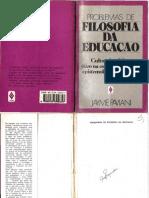 Problemas de Filosofia da Educação