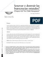 Renovar o Destruir La Burocracias