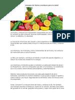 La Importancia Del Consumo de Frutas y Verduras Para Tu Salud
