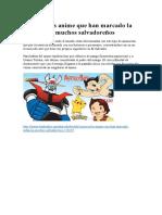 Conozca Los Anime Que Han Marcado La Infancia de Muchos Salvadoreños