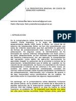 A APLICACIÓN DE LA PRESCRIPCIÓN GRADUAL EN CASOS DE VIOLACIONES DE DERECHOS HUMANOS.doc
