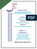 Practica Num. 3 Indicadores y Valoracion de Soluciones de Neutralizacion