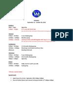 B23 Sept - Oct 2016 Class Schedule