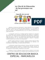 16 de Octubre Día de La Educación Inclusiva y de Las Personas Con Discapacidad