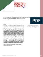 A Presenca Da Educacao Infantil Nas Politicas Educacionais, Da Constituição de 1988 Ao PNE (2011‐2020)