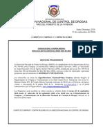 DNCD Convocatoria a Compra Menor Articulos Varios Sep.16