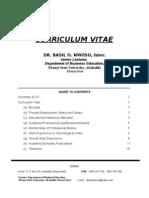 Dr. Basil O. Nwosu's C.V.