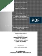 Diapositivas Observacion Directa Met y Tec de Inv