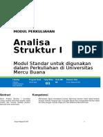 Modul Analisa Struktur I