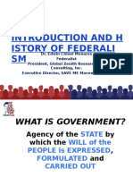 Intro and History of Federalism