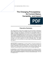 The Changing Principalship It