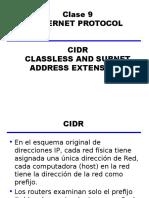 Clase 4.0.3 - 9 - Internet Protocol -CIDR