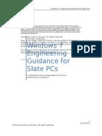 Windows 7 Engineering Guidance for Slate PCs