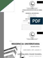 Residencia universitaria Osvaldo Morel Moreira 2013 Universidad de Parguay