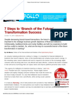 7 Steps to 'Branch of the Future' Transformation Success