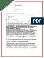 Preguntas Código de Ética CONLA