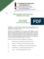 Reglamento Mpal. de Protección Civil-modelo