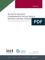 Beijing Emission Control Programs 201511