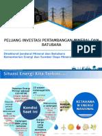 Peluang Investasi Mineral Dan Batubara Indonesia