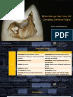 Materiales Protectores Del Complejo Dentino Pulpar - Hidroxido de Calcio - Eugenolato de Zinc