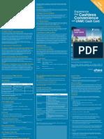 UNMC Cash Card Starter Pack Leaflet