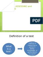 Approaches to Language Testing
