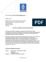 Anonos Canadian OPC Consultancy