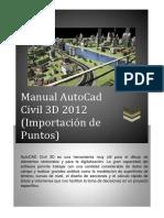 Manual AutoCadCivil 3D Importación de Puntos