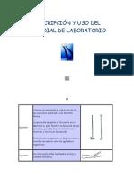 Descripción y Uso Del Material de Laboratorio