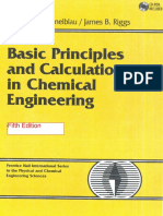 Basic Principles & Calculations in Chemical Engineering Himmelblau