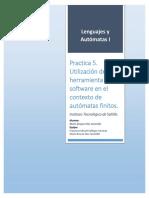 Utilización de herramienta de software en el contexto de autómatas finitos